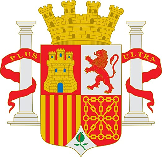 magFlags Bandera Large Representación del Escudo Nacional de España Durante la Segunda República | 1.35m² | 110x120cm: Amazon.es: Jardín