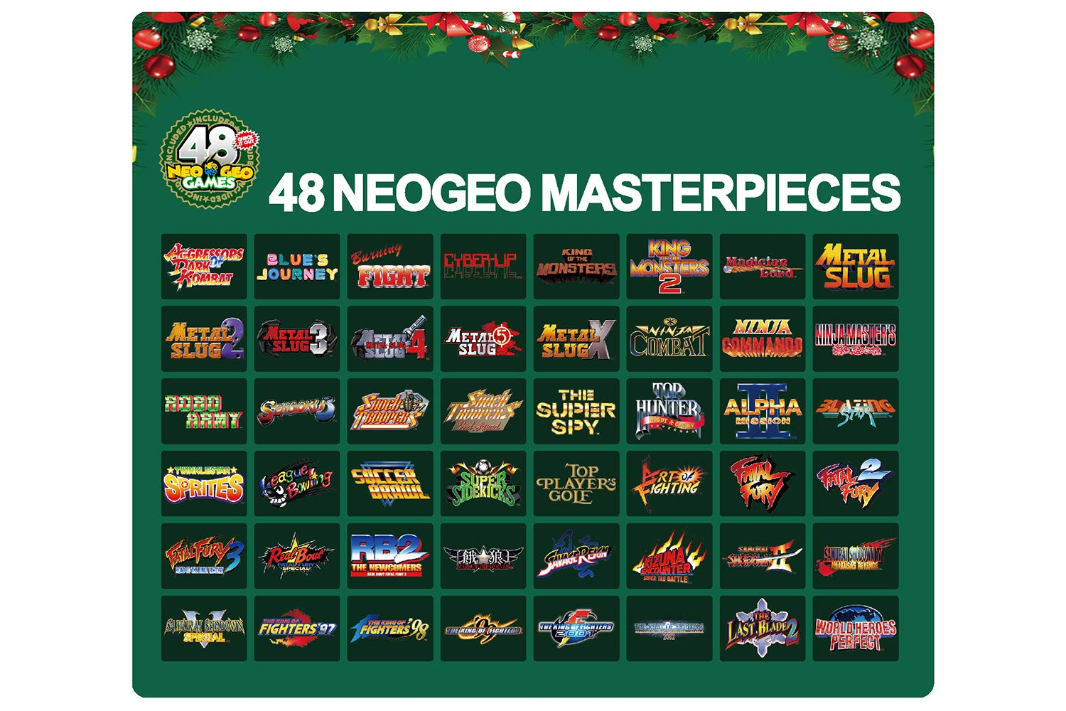 NEOGEO mini Christmas Limited Edition *(IN STOCK NOW! Ships USPS Priority Mail)* by SNK (Image #8)