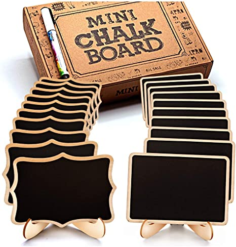 Table Number Wooden Mini Blackboard Signs Kitchen Message Memo Chalk Board