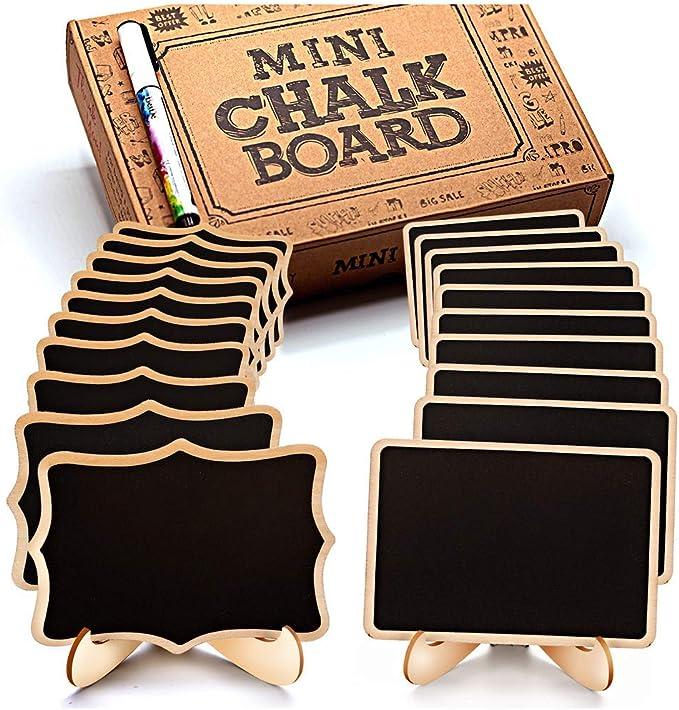 5pcs//set Mini Small Wooden Chalk Blackboard Signs Chalkboard Message Board New