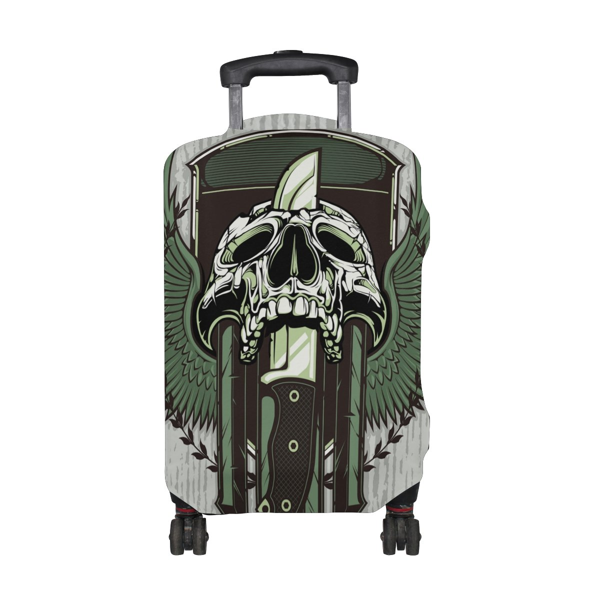 Punk Skull Travel Luggage Protector Baggage Suitcase Cover Fits 29-32 Inch Luggage by CoolPrintAll (Image #2)