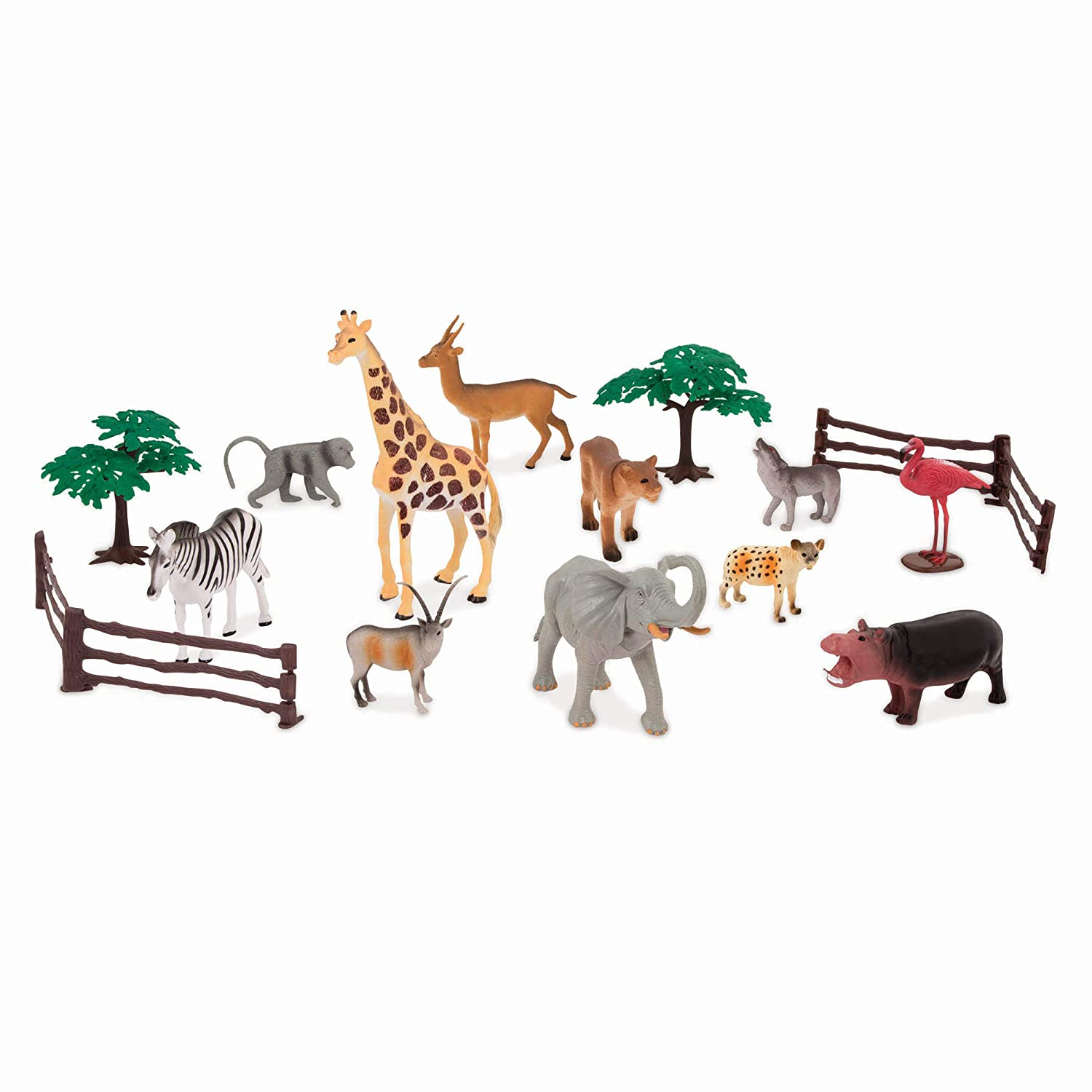Realistic Plastic Cows Toys /& Farm Animal Toys for Kids 3+ 60 Pc Country World Terra by Battat