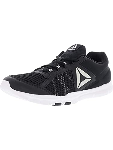 Reebok Mens Yourflex Train 9.0 MT Black White Grey Size 8 05e399ae3