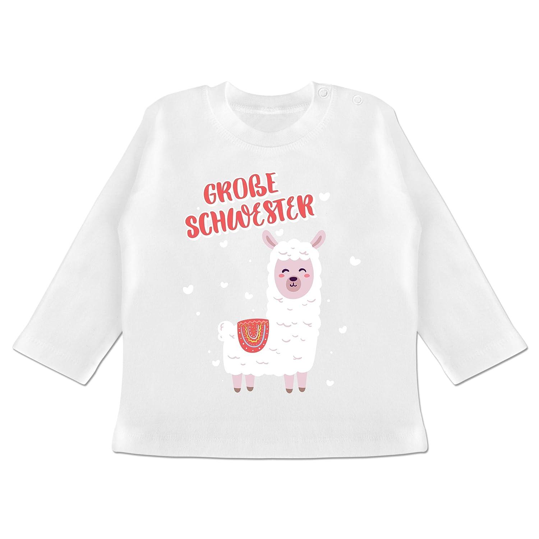 Gro/ße Schwester Lama Geschwisterliebe Baby Baby T-Shirt Langarm