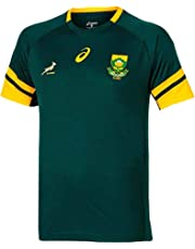 Springboks Official KIDS South Africa Rugby Shirt by ASICS (100% Polyester)