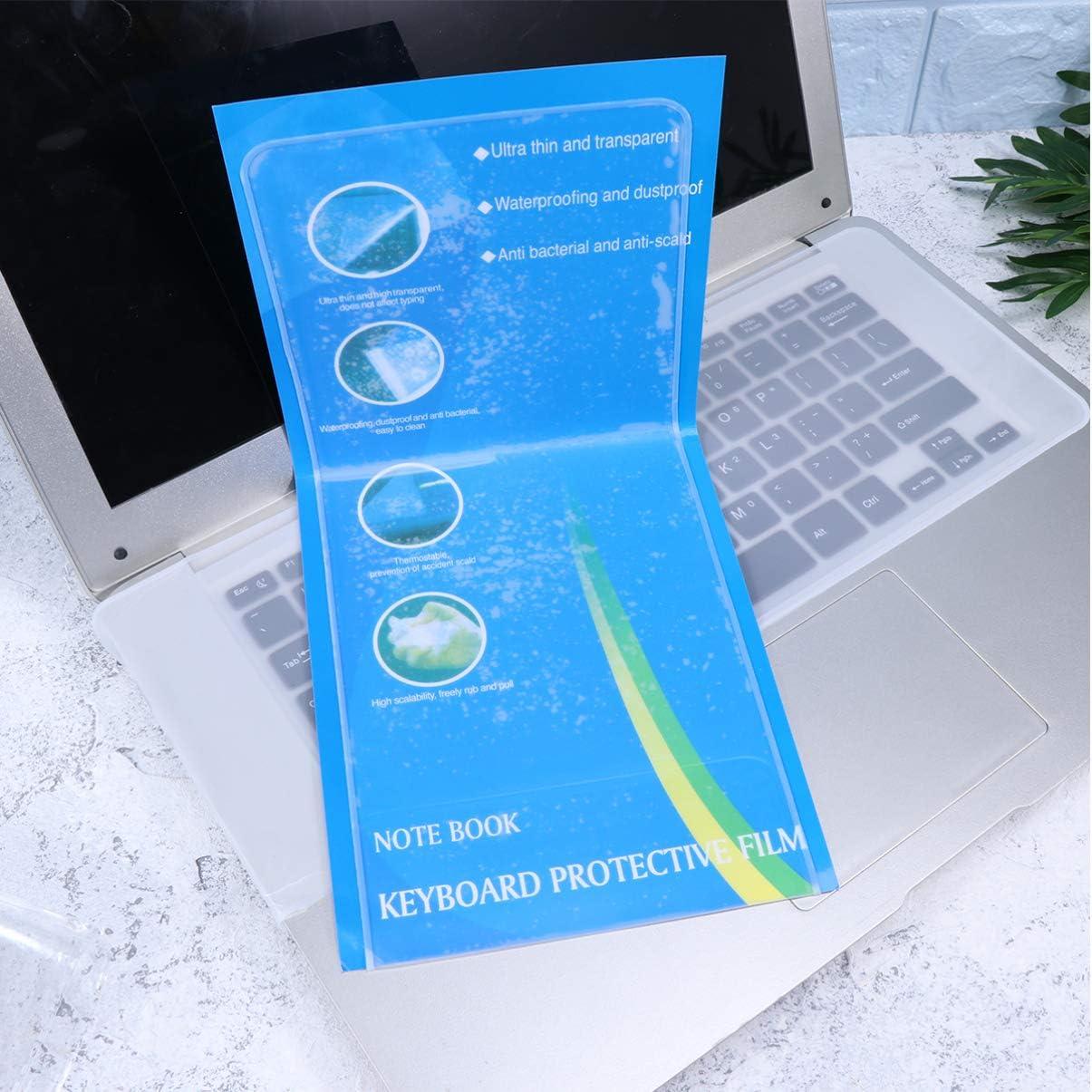 OSALADI 15//17 Clear PC Keyboard Skin Protector Laptop Keyboard Cover Super Thin Keyboard Protector Universal Waterproof Anti-Dust Silicone Keyboard Skin Cover 5pcs