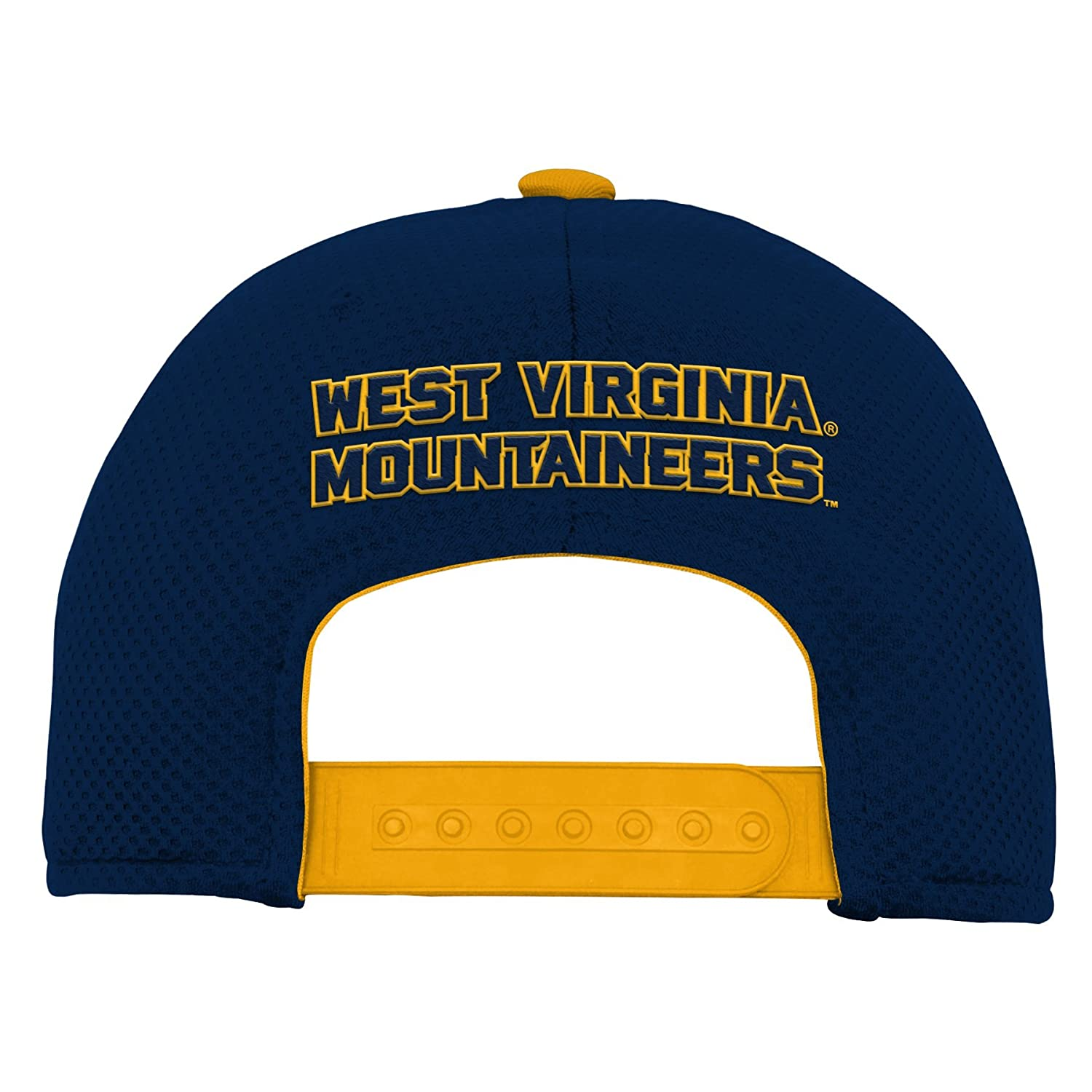 Youth One Size NCAA West Virginia Mountaineers Youth Outerstuff Tech Structured Snapback Hat Team Color