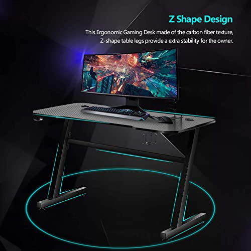 49 Gaming Desk Z-Shaped PC Computer Desk