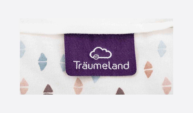 mehrfarbig Tr/äumeland S0100901 Au/ßenschlafsack LIEBMICH Dreiecke bunt Gr/ö/ße 44