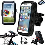ICOOM Support Pour SmartPhone Waterproof Universel Fixation Guidon Moto, Vélo, Bicyclette, Cyclisme avec Étui Imperméable pour GPS, Apple, Android, Smartphone, iPhone 6S / 6/ 6 Plus, Samsung Galaxy S7, S6, S6 Edge, S5, Note 5, Note 4, HTC one, LG G5, G4, Motorola, HUAWEI P9, P8, Wiko