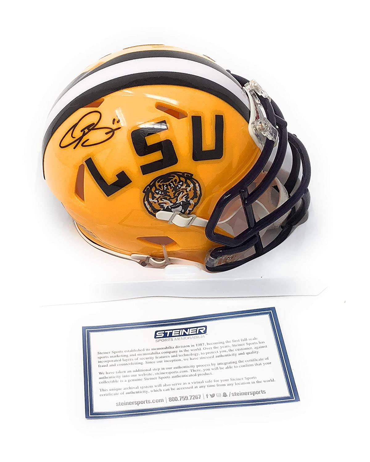 Odell Beckham Jr LSU Tigers Signed Autograph Speed Mini Helmet Steiner Sports Certified