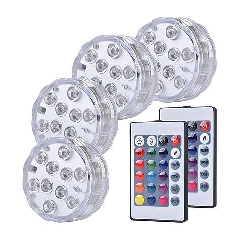 Amazoncom Wuudi LED Multi Color Remote Controlled Waterproof