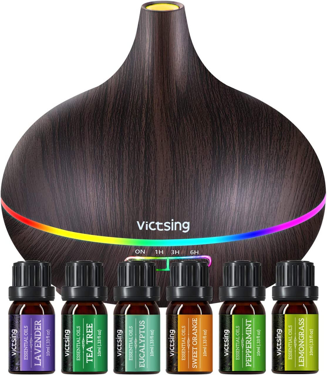 Diffusers for Essential Oils with Auto Shut-Off, 4 Timer, Gift Set for Home