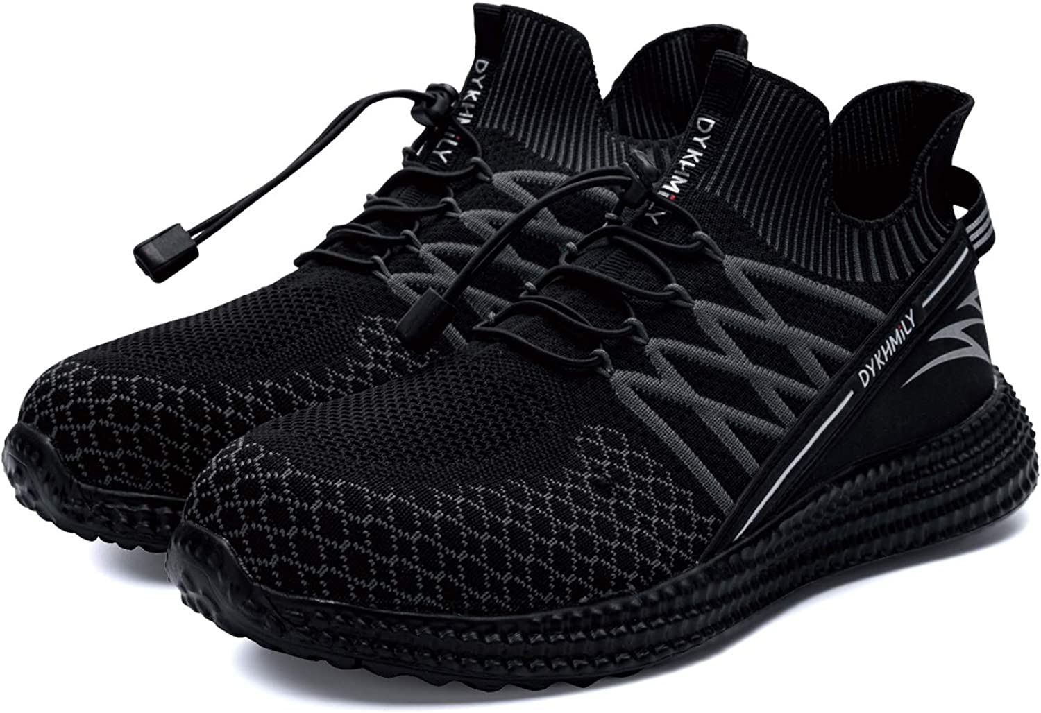 DYKHMILY Steel Toe Sneakers for Men Women Waterproof Lightweight Safety Work Shoes Slip Resistant Puncture Proof Indestructible Shoes
