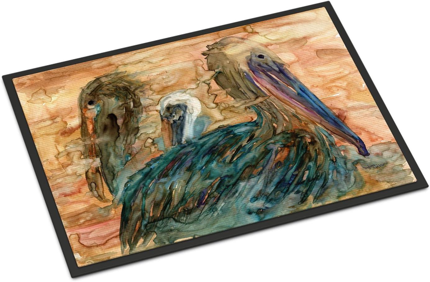 Caroline s Treasures 8977JMAT Abstract Pelicans Indoor or Outdoor Mat 24×36, 24H X 36W, Multicolor