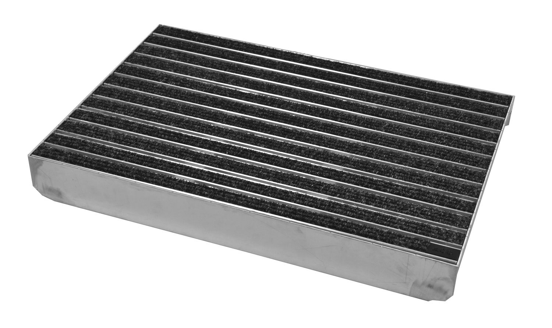 ACO Schuhabstreifer Rips anthrazith Gr/ö/ße:750 x 500 mm Emco ALU Bodenwanne Fu/ßmatte Eingangsmatte Fu/ßabtreter