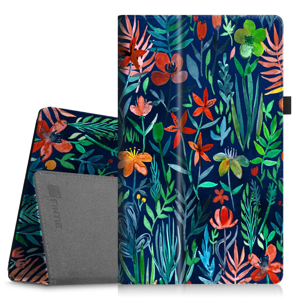 Fintie Folio Case for All-New Amazon Fire HD 10 Tablet (7th Generation, 2017 Release) - Premium PU Leather Slim Fit Smart Stand Cover with Auto Wake/Sleep for Fire HD 10.1'' Tablet, Jungle Night by Fintie