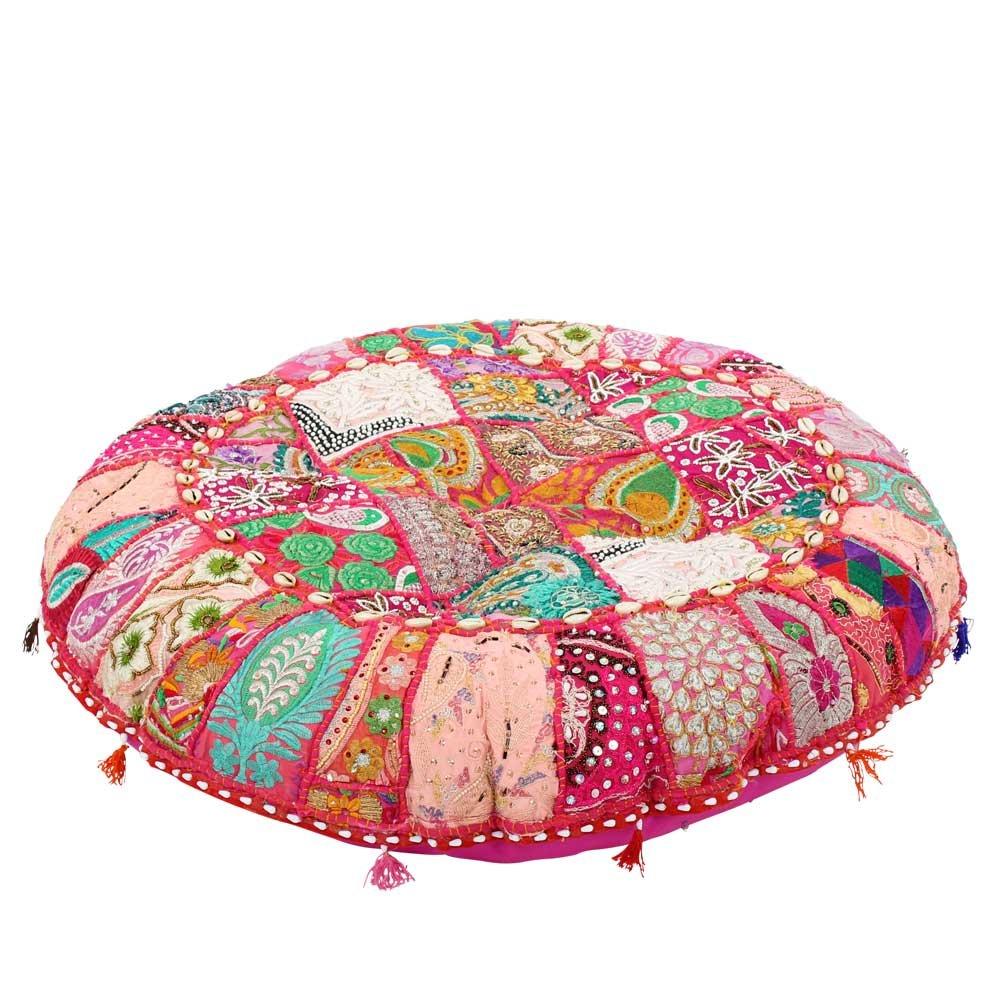 Albena shop 72-103 Jevana orientalisches Sitzkissen (ø 80cm, pink)