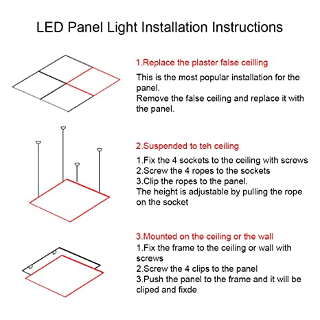 ledmo led panel light mounting bracket kit spring clip for 2x2ft rh amazon com led light panel diagram led panel block diagram