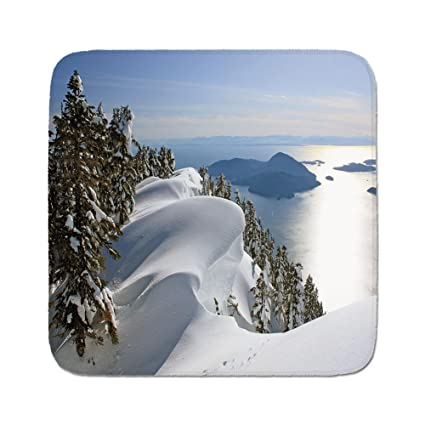 Cozy Seat Protector Pads Cushion Area Rug,Winter,Pacific Ocean Meets the Mountains Vancouver