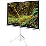 """Yescom 100"""" Projector 4:3 Projection Screen Pull Up Matte White Portable Tripod Stand"""