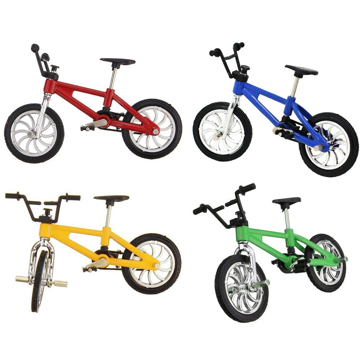 4 Pack Finger Mountain Bike Excellent Functional Miniature Metal Toys Mini Extreme Sports Finger Bicycle Cool Boy Toy Creative Game Toy Set Collections by Yexpress