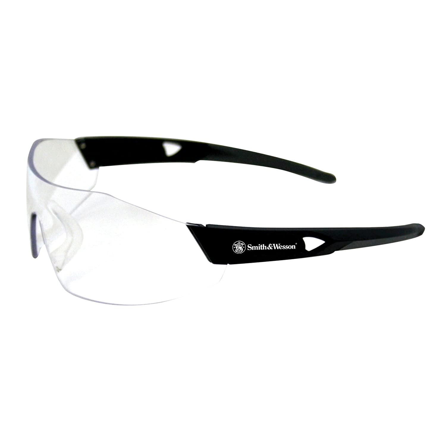 Clear Anti-Fog Lens Smith /& Wesson 44 Magnum Safety Glasses 23452 12 Pairs//Case Kimberly-Clark Professional Black Frame