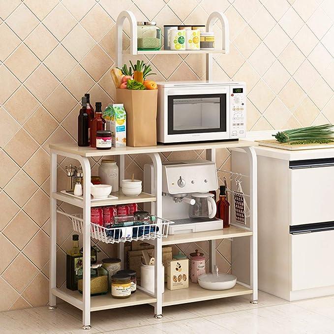 Amazon.com: FKUO - Estante de cocina de 3 niveles, estante ...