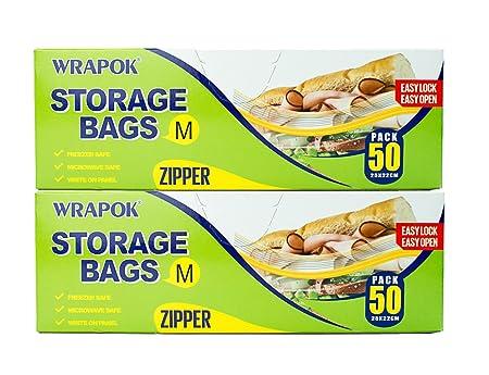 wrapok alimentos almacenamiento bolsas de almacenamiento con ...