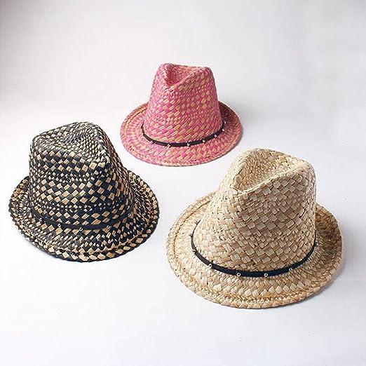 8ef9da0cfcb Summer Fashion Handmade Beach Boho Fedora Straw Sun Hat Men Travel Jazz Hat  at Amazon Women s Clothing store