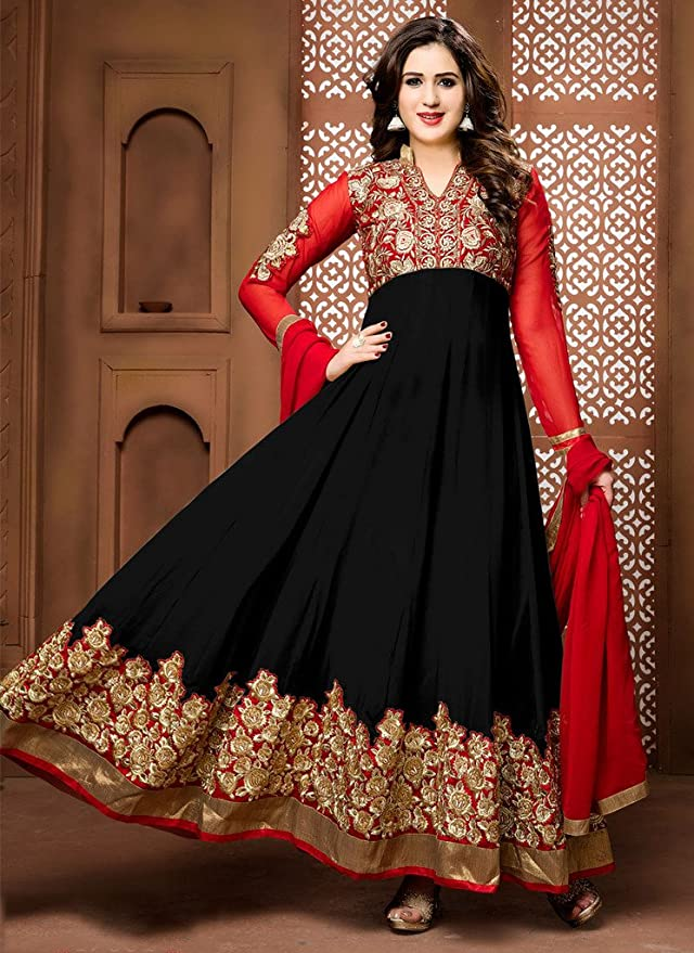 EthnicWear Indian Party Festival Wear Classy Anarkali Suit Dress at Amazon Womens Clothing store:
