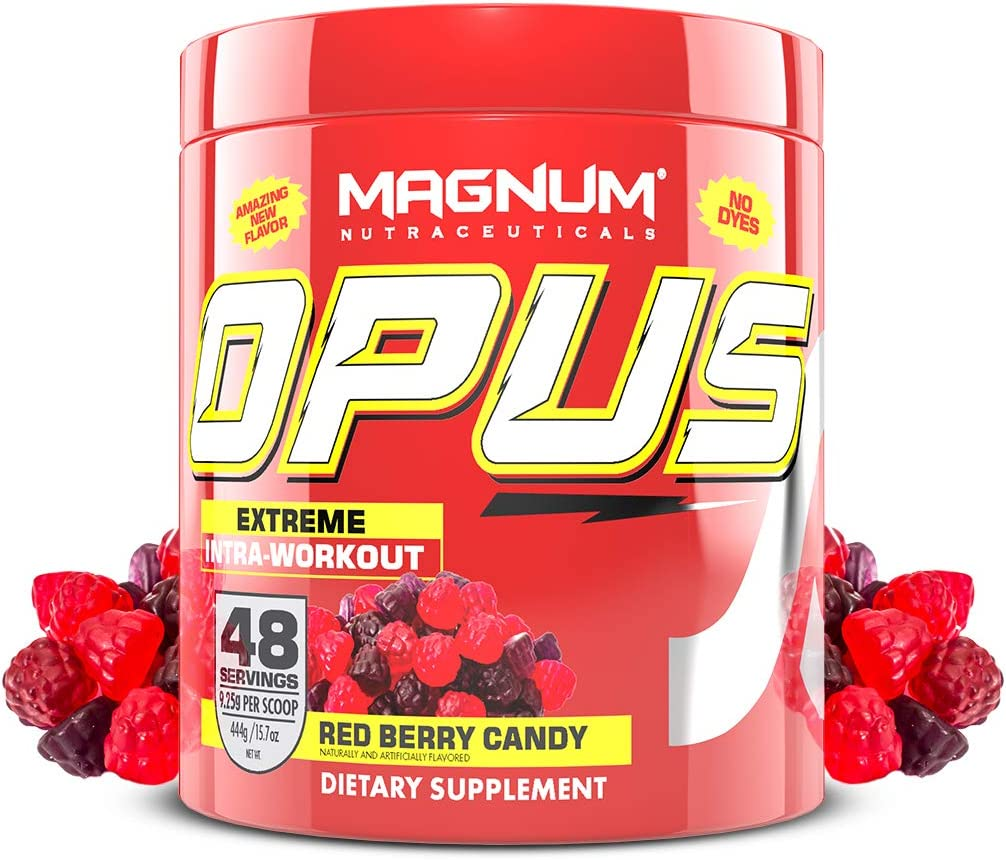 Magnum Nutraceuticals Stimulant-Free Opus Intra-Workout Powder 48 Servings, Red Berry