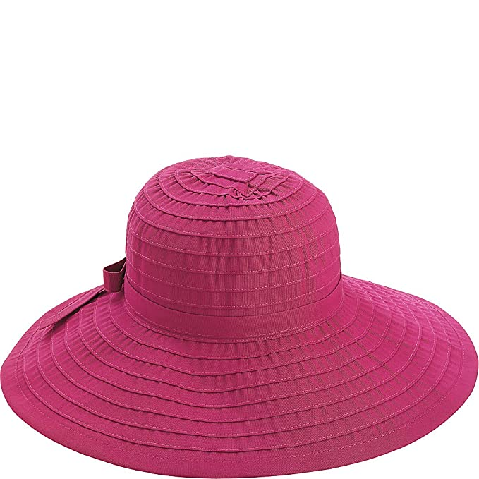 15aa7f68dfd4a0 San Diego Hat Ribbon Hat With Large Brim And Bow (One Size - rasberry)