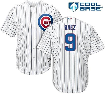 Amazon.com   Javier Baez Chicago Cubs Kids Cool Base White Replica ... 2cb313351