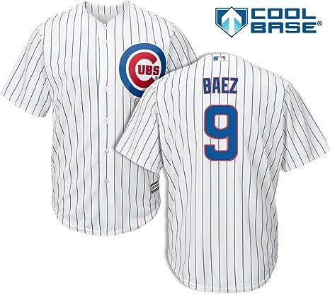 4d55f1700 Amazon.com   Javier Baez Chicago Cubs Kids Cool Base White Replica ...