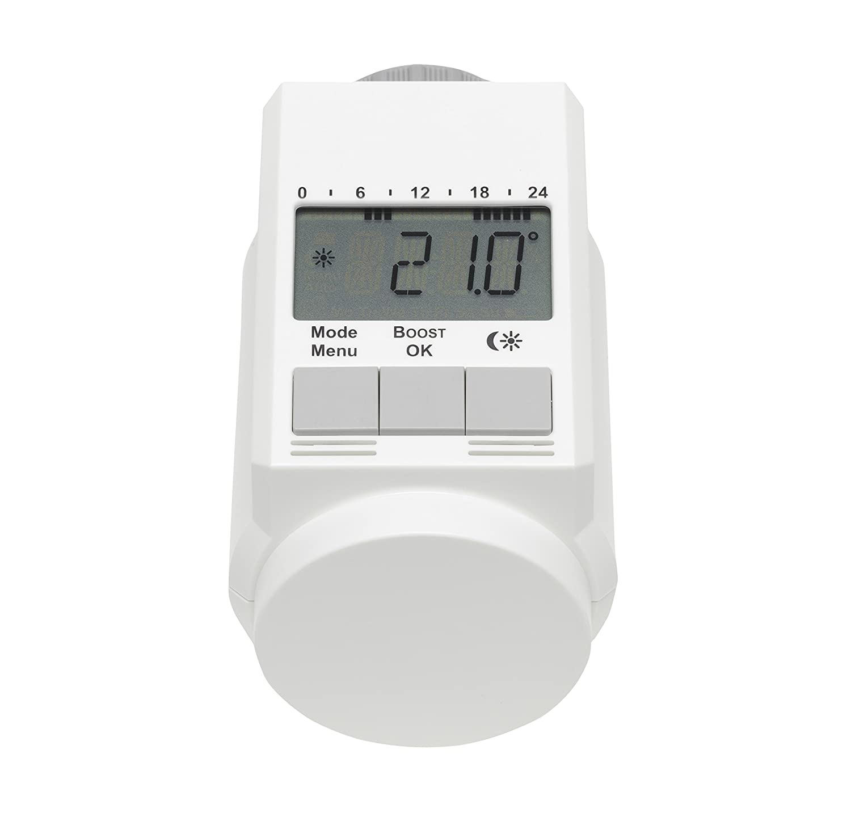 Eqiva CC-RT-O-CnL-W-R5-2 Blanco termoestato - Termostato (Blanco, M 30 x 1.5, LCD, LR6/Mignon/AA, 1,5 V, 100 mA): Amazon.es: Bricolaje y herramientas