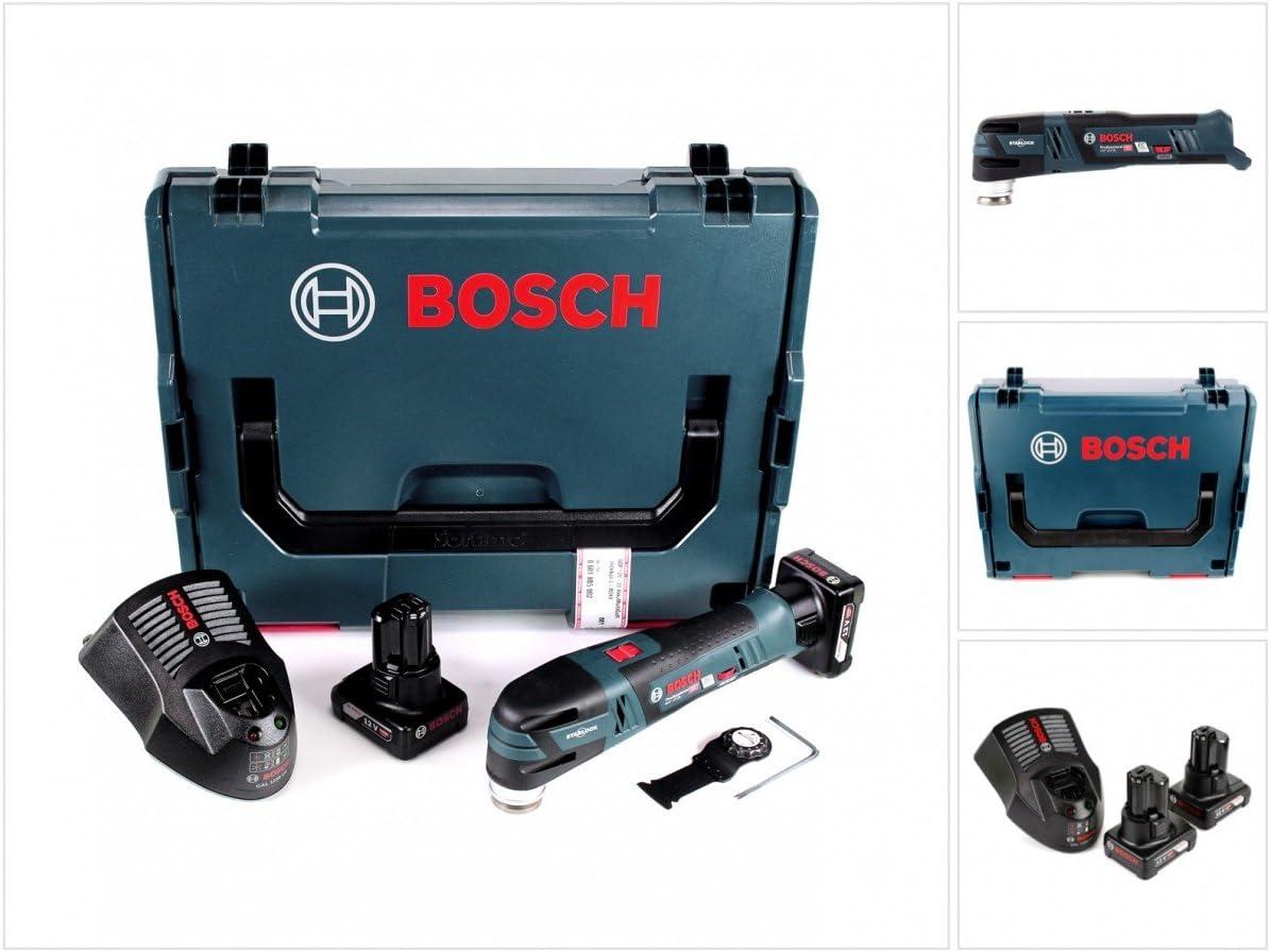 Bosch GOP 12V de 28Professional batería Multi Cutter Brushless con Star Lock en L-Boxx + 2x GBA 12V 6Ah Batería + Gal 1230CV Cargador