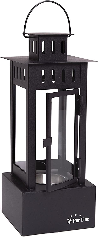 black PURLINE IRIS B Bio-ethanol fireplace Tabletop Lantern