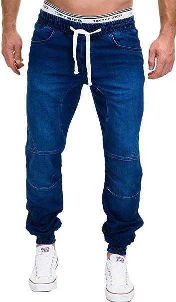 317bc4a404e MERISH Jeans Hombres Vaqueros Jogger Denim Pantalones Modell J3008 Azul  W30  Amazon.es  Ropa y accesorios