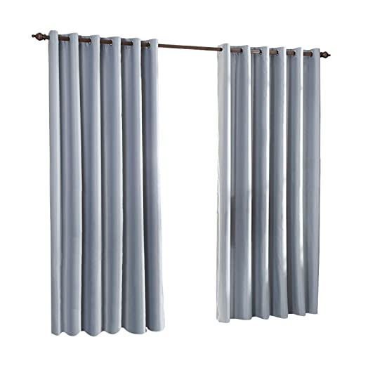 46u0026quot; X 53u0026quot; Silver Grey Eyelet Curtains Luxury Thermal Supersoft Blackout  Curtains