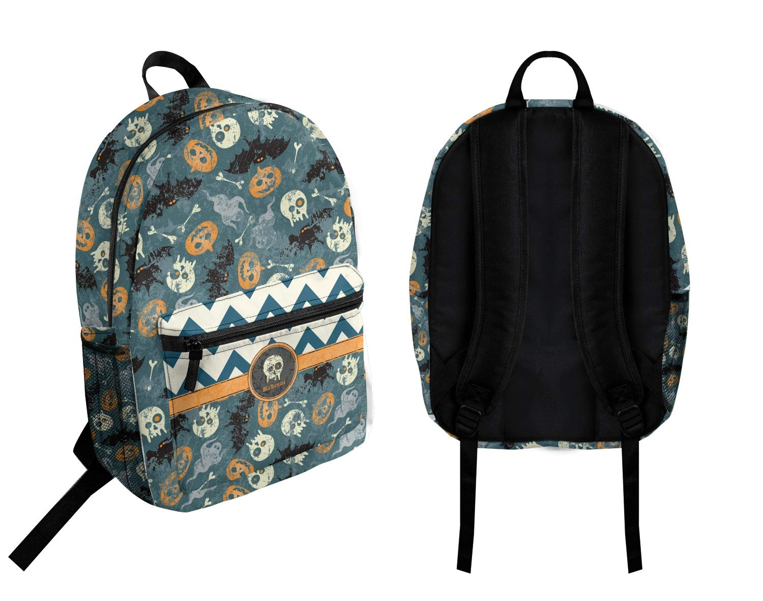 Personalized Vintage//Grunge Halloween Student Backpack