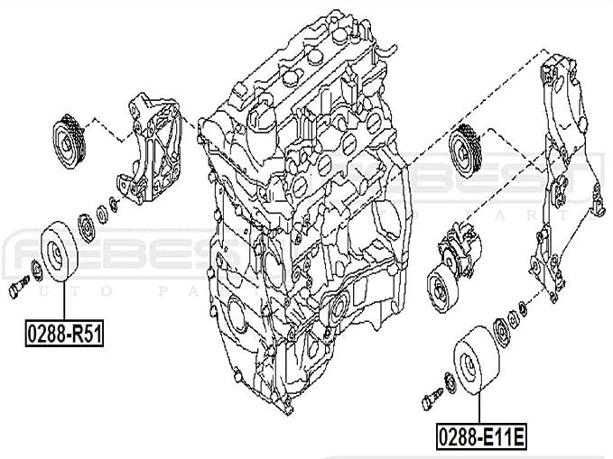 119271hc0 a - Polea Correa de distribución para Nissan - febest: Amazon.es: Coche y moto
