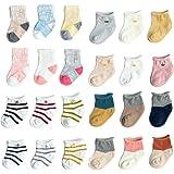 Baby Socks Infant Girls Boys Soft Cotton Toddler Socks 6 Pack
