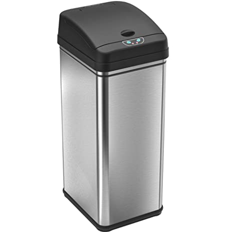 718qWrB5RfL._SY463_ amazon com itouchless 13 gallon stainless steel automatic trash HDX Outdoor Trash Can at bayanpartner.co