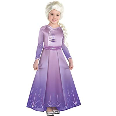 Party City Elsa Act 1 Halloween Costume for Girls, Frozen 2, Includes Dress: Clothing
