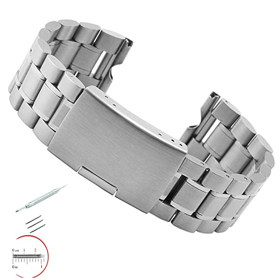 VIMVIP 22mm Stainless Steel Bracelet Watch Band Strap Specially Designed with Stainless Spring Bar Tool and 3 Band Pins for Motorola Moto 360 ...