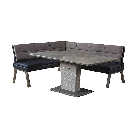 Strange Amazon Com Milan Janice Concrete Grey Blue 2 Piece Dining Inzonedesignstudio Interior Chair Design Inzonedesignstudiocom