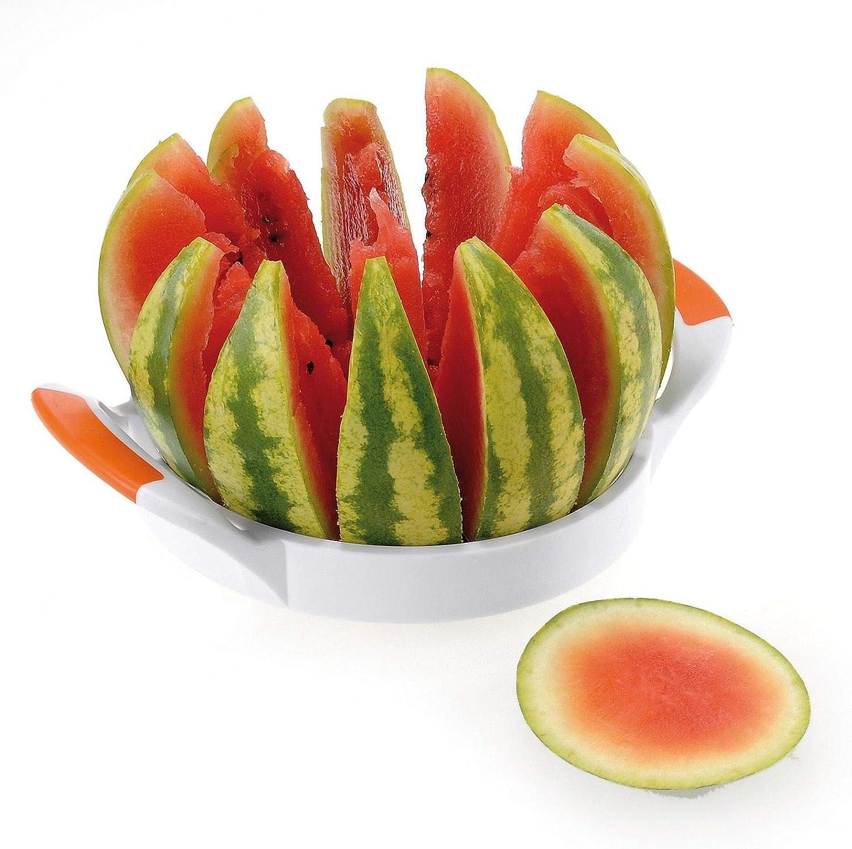 Westmark 12 perfect slices Large Stainless Steel Melon Slicer, Jumbo, White