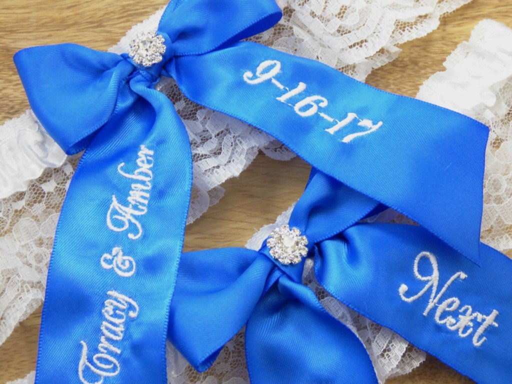 Royal Blue Bridal Garter, You're Next Wedding Garter Set, Custom Garters, Something Blue