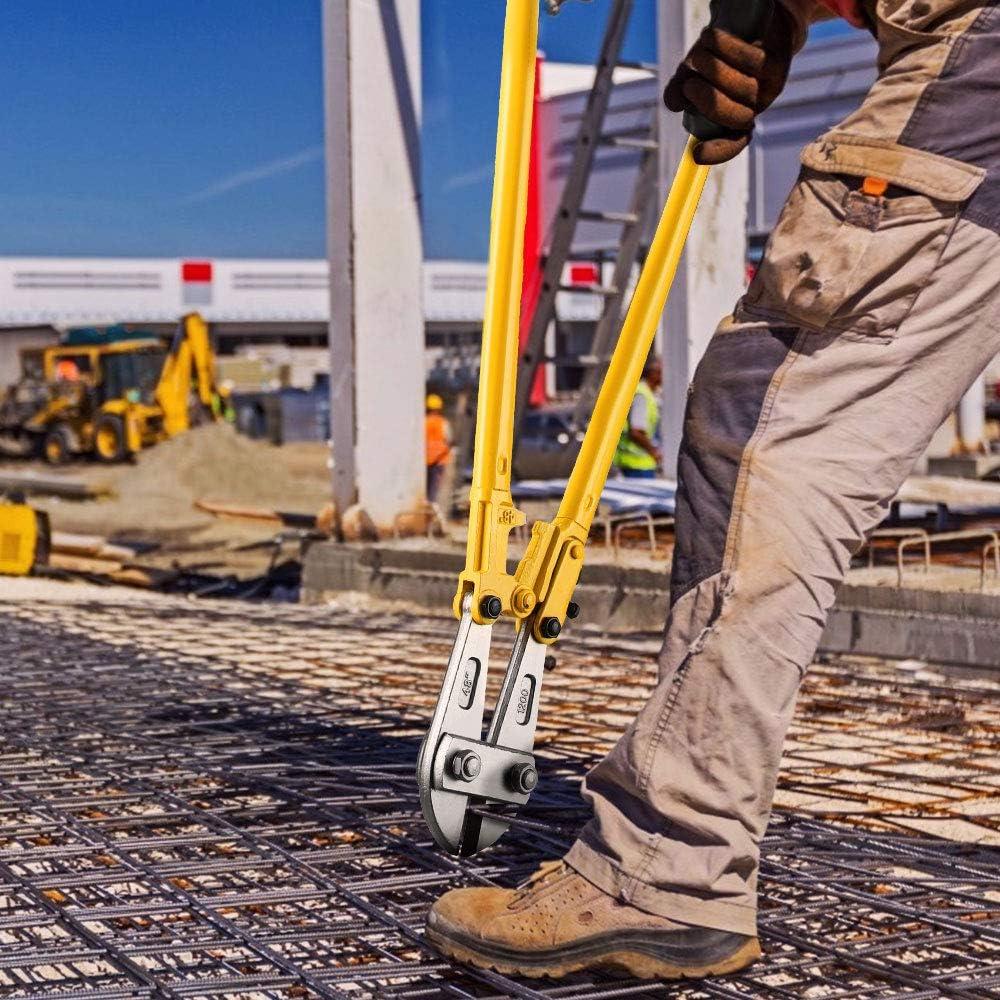 Tijeras Industriales Profesionales con Mangos Antideslizantes Metal Anbull Cizalla Corta Pernos 1200mm para Cable grueso Cortadores de Pernos de Alta Resistencia con un Di/ámetro de Corte de 16 mm